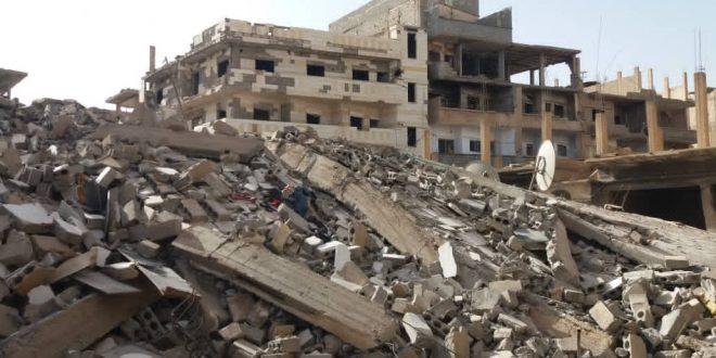 بالصور.. انهيار مبنى مؤلف من 5 طوابق في حي الحميدية